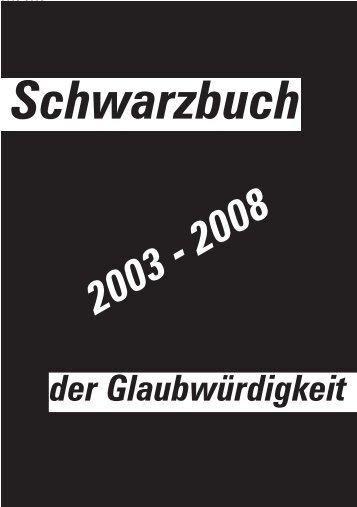 """Das """"Schwarzbuch der Glaubwürdigkeit!"""