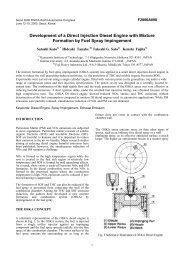 Development of a Direct Injection Diesel Engine with Mixture ...
