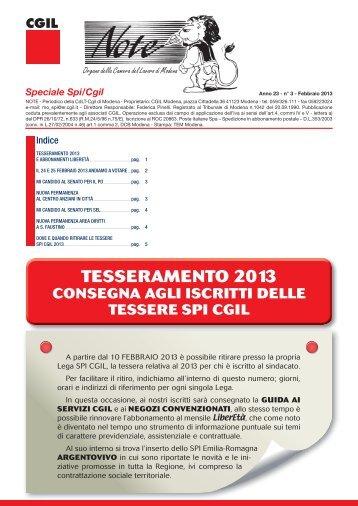 NOTE MODENA n°3 feb 2013.indd - CGIL Modena