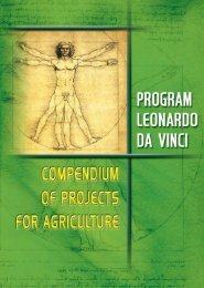 Compendium of Projects for Agriculture