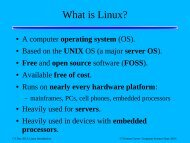 What is Linux? - Department of Computer Science
