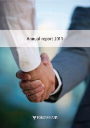 Annual report 2011 - Fondsfinans