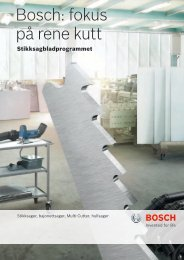 Bosch: fokus på rene kutt