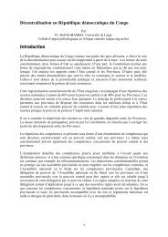 Décentralisation en République démocratique du Congo - COOPAMI
