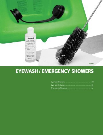 EYEWASH / EMERGENCY SHOWERS