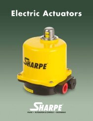 Electric Actuator - Sharpe® Valves