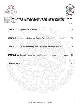 ley organica del municipio libre del estado de guerrero - Auditoría ...