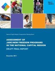 Assessment of JARC/New Freedom Programs - Metropolitan ...