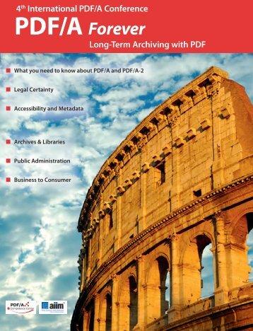 PDF/A Forever - PDF Association