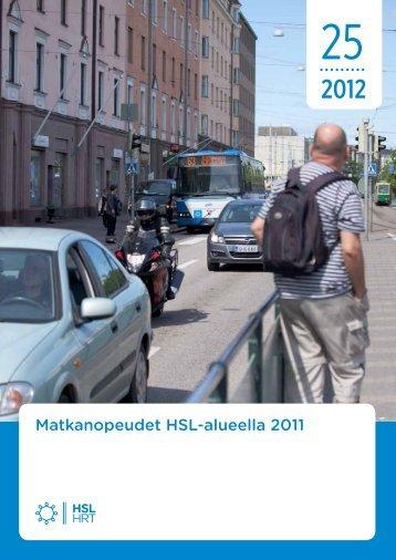 Matkanopeudet HSL-alueella 2011