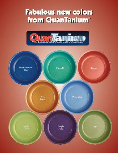 Fabulous new colors from QuanTanium