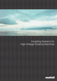 Insulating Systems for High-Voltage Rotating Machines - Von Roll
