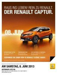AM SAMSTAG, 8. JUNI 2013 - Autohaus Lotz