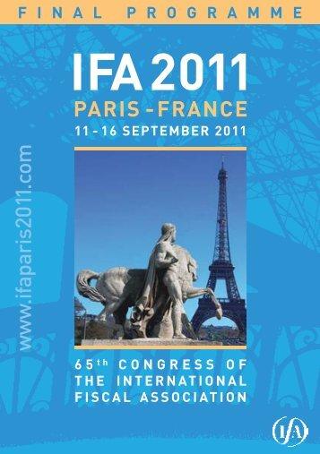 Final Programme - IFA 2011