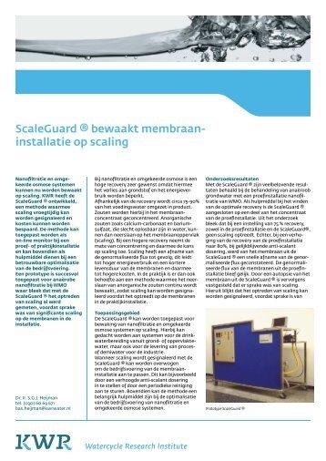 ScaleGuard ® bewaakt membraan - KWR Watercycle Research ...
