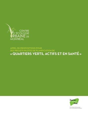 « QUARTIERS VERTS, ACTIFS ET EN SANTÉ » - Centre d'écologie ...