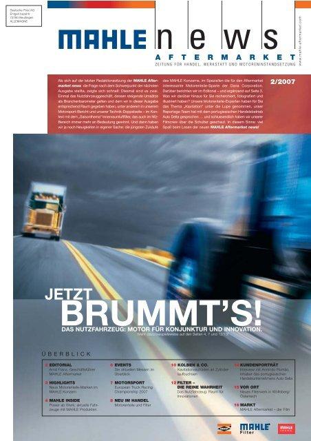 BRUMMT'S! - MAHLE Industry - Filtration
