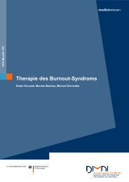 Therapie des Burnout-Syndroms - DIMDI
