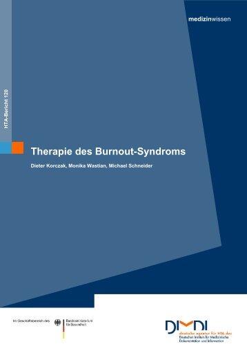 Therapie des Burnout-Syndroms - DIMDI
