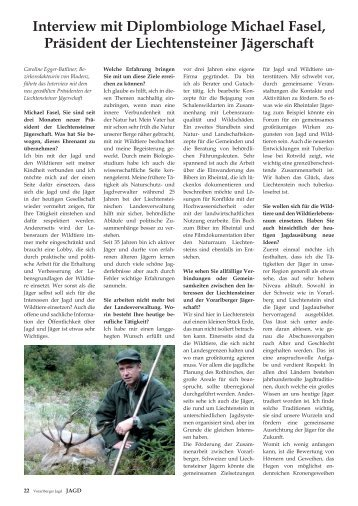 Interview mit Diplombiologe Michael Fasel, Präsident der ...