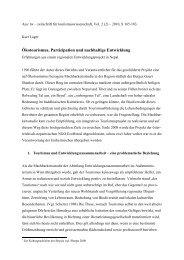 Ökotourismus, Partizipation und nachhaltige Entwicklung - Ecohimal