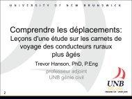 Trevor Hanson - UNB