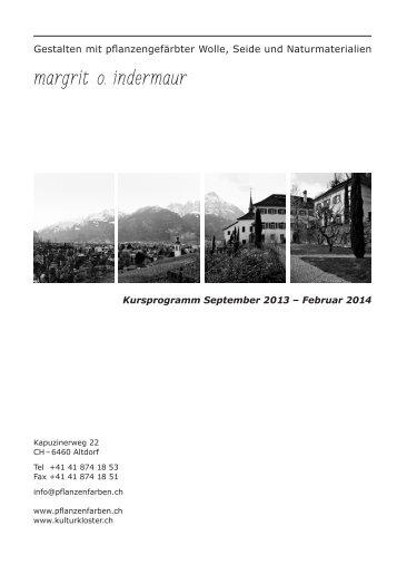 Margrit O. Indermaur PDF - kulturkloster altdorf