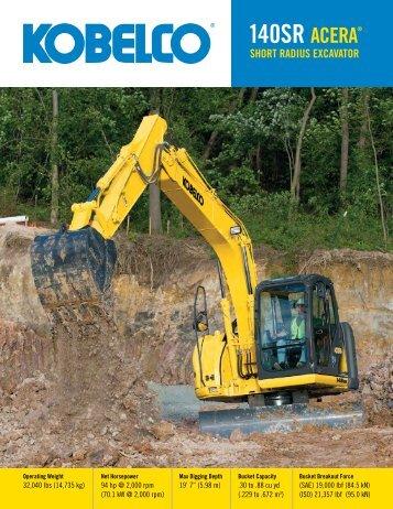 140sr acera® short radius excavator - Heavy Equipment Rental