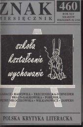 Nr 460, wrzesień 1993 - Znak