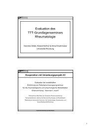 Evaluation des TTT-Grundlagenseminars Rheumatologie - Zentrum ...