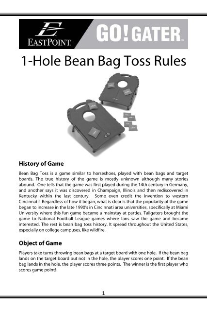 Fabulous 1 Hole Bean Bag Toss Rules Eastpoint Sports Onthecornerstone Fun Painted Chair Ideas Images Onthecornerstoneorg