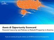 Assets & Opportunity Scorecard: - CFED