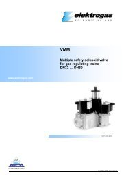 VMM Multiple safety solenoid valve for gas regulating trains DN32