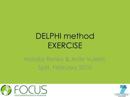DELPHI method EXERCISE - Focus-Balkans