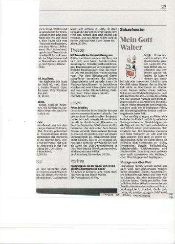 Tagi (pdf ) - Walter Vintage Möbel & Accessoires Zürich