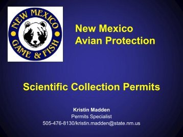 NMDGF Scientific Collection Permits by Kristin Madden