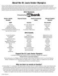 33rd Annual St. Louis Senior Olympics - Jewish Community Center - Page 2