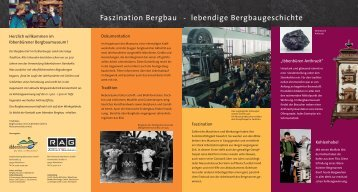 "Flyer ""Faszination Bergbau - lebendige Bergbaugeschichte"""