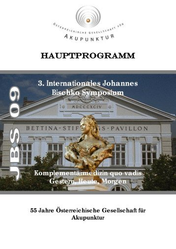 3. Internationales Johannes Bischko Symposium - deutsch