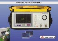 OPTICAL TEST EQUIPMENT - Protel