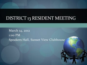 District 13 Resident Meeting - Sun City Palm Desert Community ...