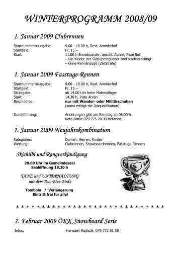 Winterprogramm 2008-2009-II - SC Amden