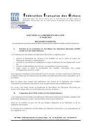 Règlement officiel des Opérations Électorales - Fédération ...