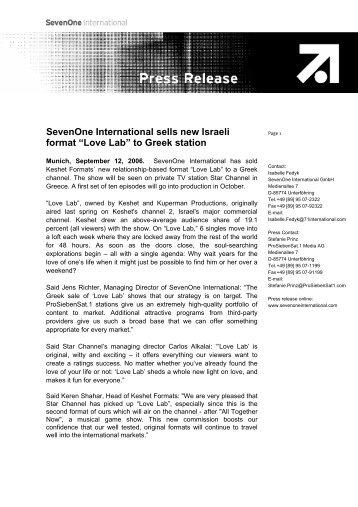 Love Lab - Red Arrow International