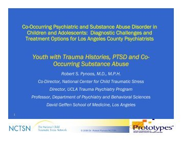 Youth with Trauma Histories, PTSD and Co- Occurring Substance ...