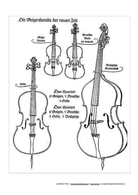 instrumente zum ausmalen und zuordnen