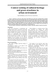 Context seeking of cultural heritage and green struckture in urban ...