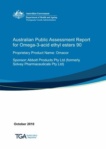 Australian Public Assessment Report for Omega-3-acid ethyl esters 90