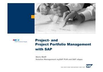 and Project Portfolio Management with SAP - PMI® Switzerland ...
