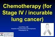 Lung Cancer: 1998 - Abramson Cancer Center